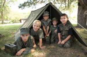 Army for Kids Fun for all ages - Operation Sniper Den.  How to make a sniper den for kids