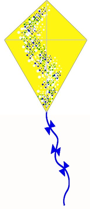 How to make a kite - the finished product can be decorated however you like.