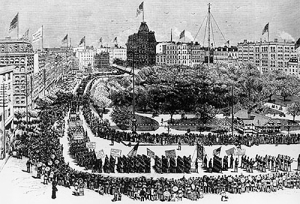 Labor Day Parade 1882.