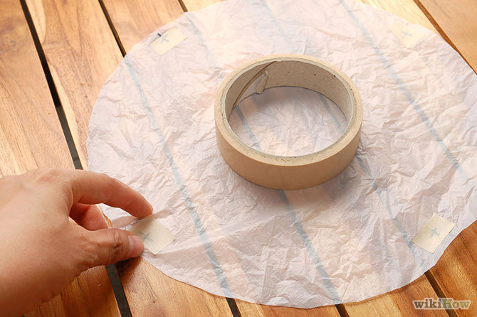Place a small piece of tape over your marked areas.