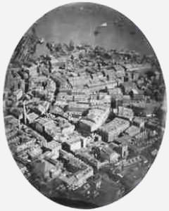 This is the first known aerial photo ever taken. It was taken over Boston, Massachusetts.