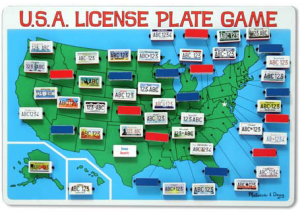 The USA License Plate Game is a fun way to keep the kids happy on your next road trip.  That usually means that if the kids are happy - mom is happy!