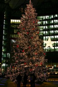 A Christmas Tree in Berlin Germany.