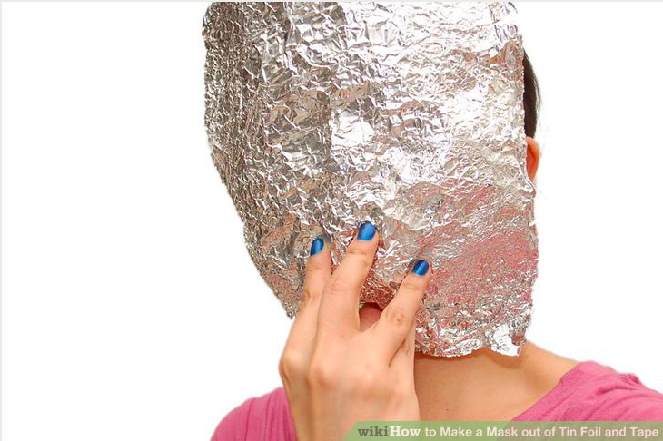 How to Make a Mask With Tin Foil and Tape