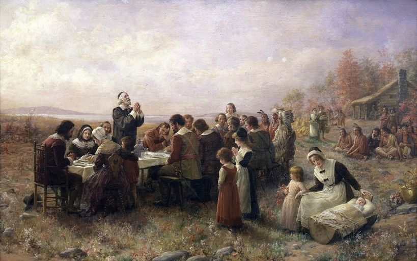 Jennie Augusta Brownscombe - The First Thanksgiving at Plymouth